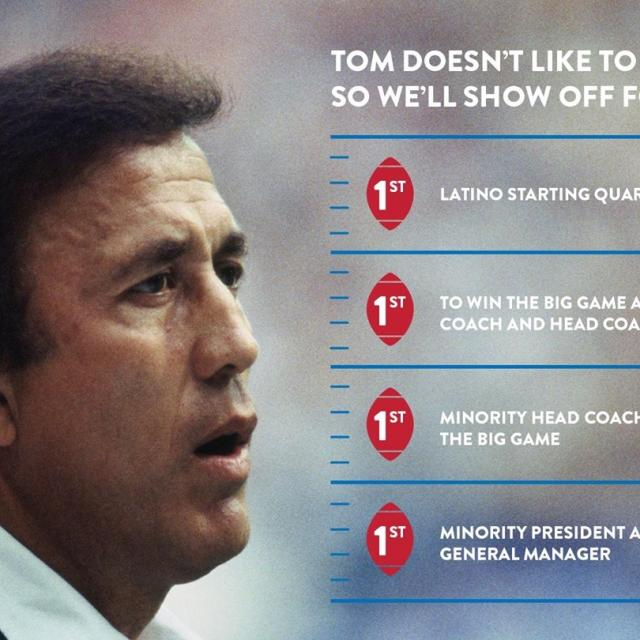 Canton finalist and 4-time champion, Tom Flores, can become the first Latino ever inducted who won championships as both quarterback and head coach. Show your support for #FloresToCanton by signing the petition of support. Link in bio.