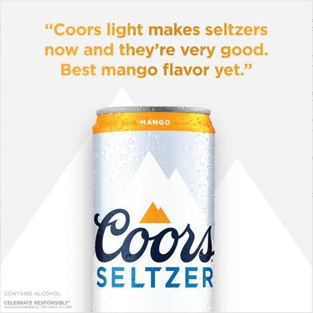 Try Coors Hard Seltzer Mango and get your first 12-pack on us.* Not only is it a refreshing take on Hard Seltzer, but also on mangos. Link in bio. 📝: @jennadaniellle  *Beer Purch. Req'd. Void in AL, AR, HI, IN, LA, MO, NC, TX, UT, and WV and where prohibited by law. 21+ Visit promorules.com/coorsseltzerrebate for Details. Ends 4.30.21