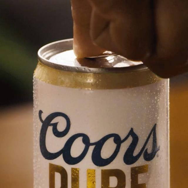 Crack open our newest beer —Coors Pure— it's organic and made with three simple ingredients.  #ItsOrganicButChillAboutIt