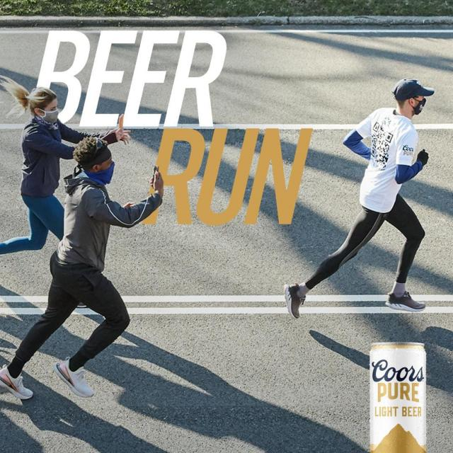 If you ran last week's #BeerRun, keep the celebrations going with a Coors Pure. And if you didn't run the Beer Run, start the celebrations with a Coors Pure, when you send your beer-can-shaped run to beerrun@coorspure.com. #ItsOrganicButChillAboutIt