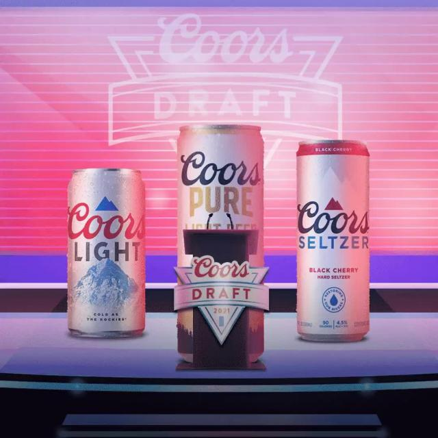 With the first pick in the 2021 USDA Certified Organic Beer Draft. Made from Organic Hops, Organic Barley, and Water, with No Sugar, and only 92 Calories… Coors selects Coors Pure!