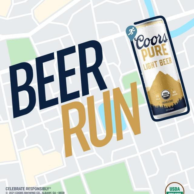Hey @MichelobUltra, running a beer run for a beer is a great idea, which is why Coors Pure did it a month ago – and are still doing it. Screenshot your beer-can-shaped run & send it to beerrun@coorspure.com for free* Coors Pure AND a chance to win free* Coors Pure for an entire year. 🍻