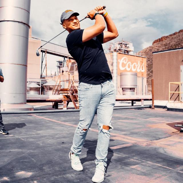Only @PatrickMahomes could turn our brewery into a driving range.