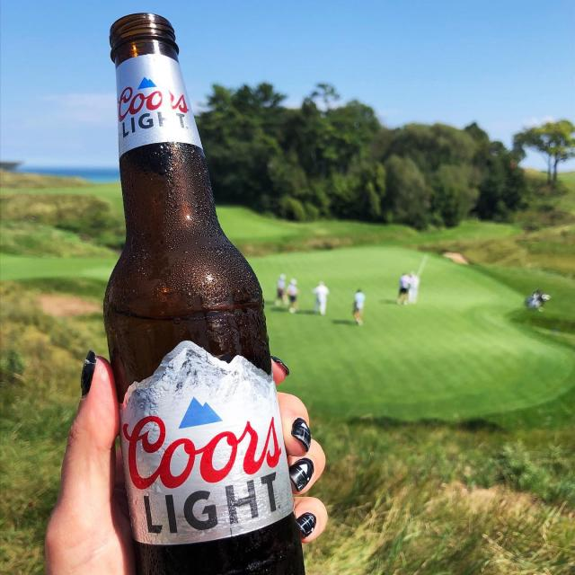Ever have some Coors on the course?