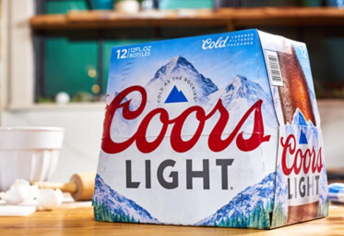 Coors Light 12 pack packaging