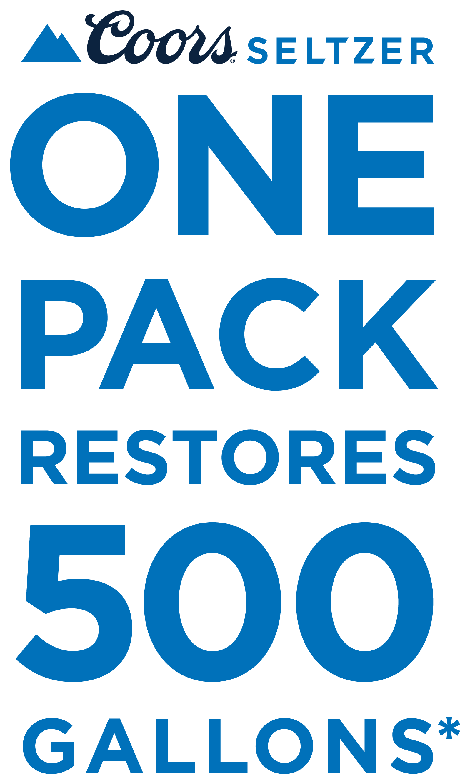 One pack restores 500 gallons